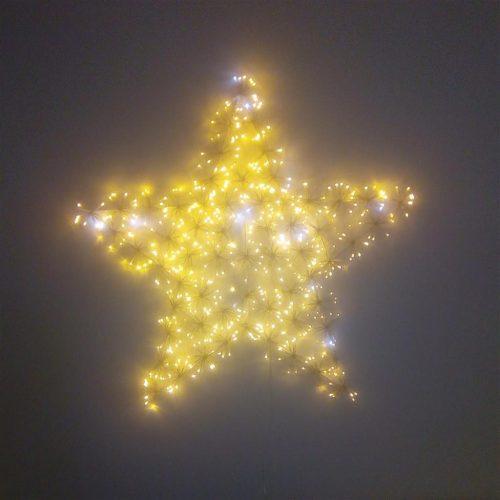 Csillag, kültéri karácsonyi dekoráció, LED-96x5x90cm