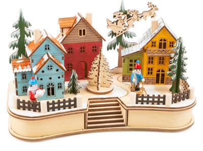 Karácsonyi falu, fa adventi naptár