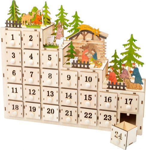 Karácsonyi jászol, adventi naptár