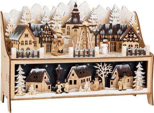 Téli álom karácsonyi falu dekoráció