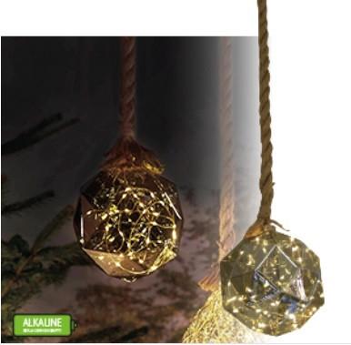 Kötélre fűzött sokszög lámpa