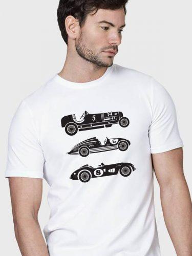 Autós férfi póló