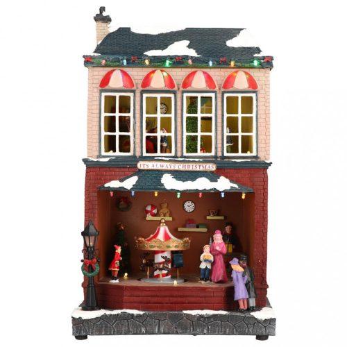 Mindig karácsony, karácsonyi dekoráció, multicolor-adapter nélkül-LED-25,50x18x42cm