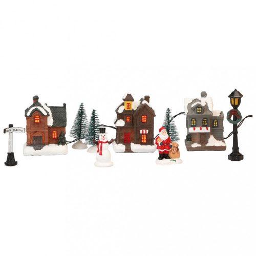 Kezdő készlet karácsonyi faluhoz, 11 db, multicolor-LED-33,5x11x2,5cm