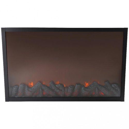 Kandalló, fekete -LED-82x12x50cm