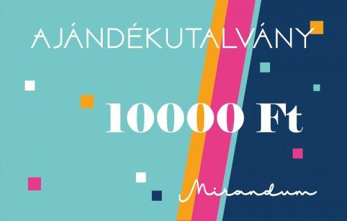 Ajándékutalvány 10 000 forint értékben