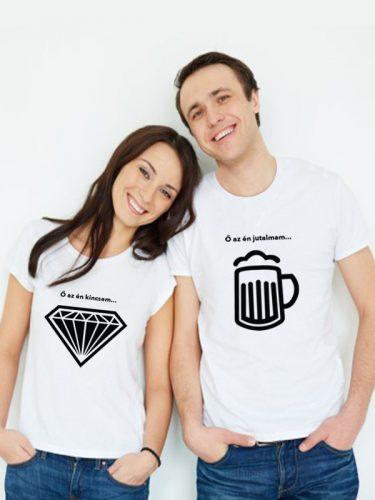 Szerelmes pólószett (gyémánt és sör)