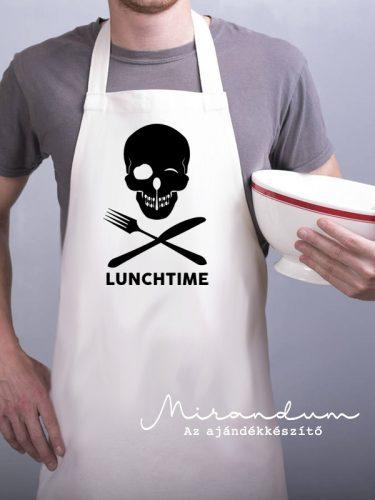 Kötény - koponya - lunchtime