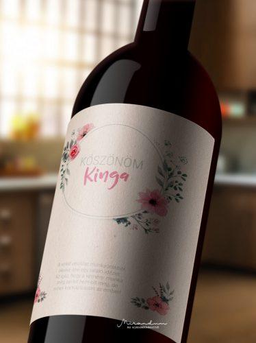 Névre szóló borosüveg címke