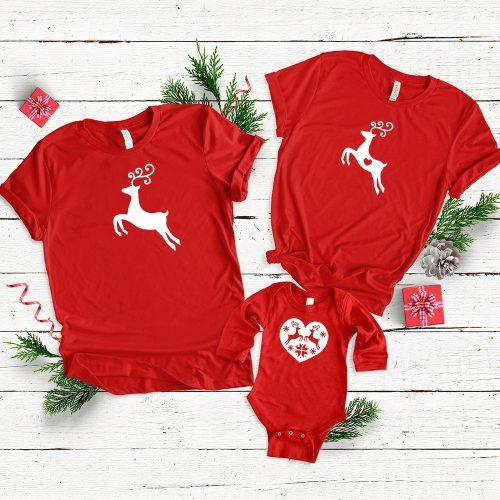 Karácsonyi családi szett szarvasos