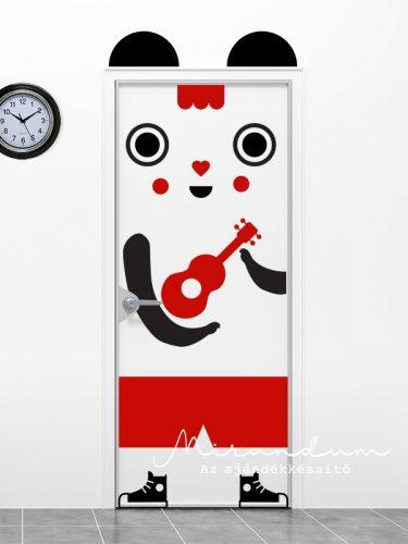 Ajtómatrica - gitáros panda