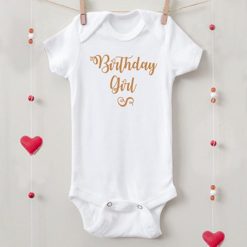 1 éves születésnapi body birthday girl felirattal
