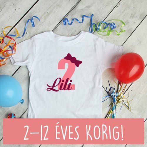 2 éves születésnapi póló lányoknak