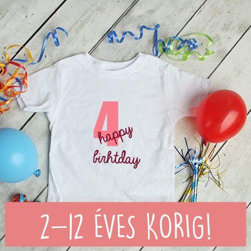 2 éves születésnapi póló lányoknak happy birthday