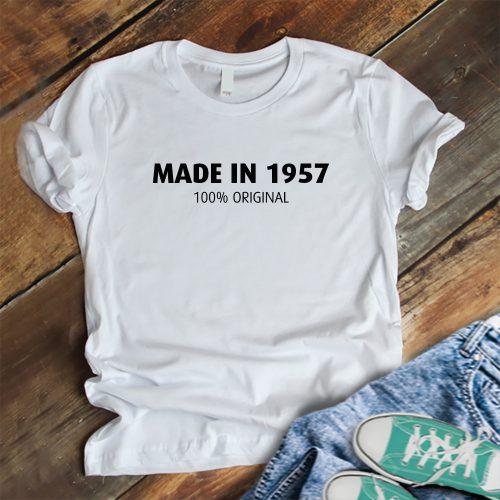 Születésnapi póló - Made in 1985 felirattal fehér
