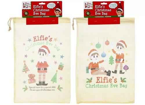 Elf manó textil ajándékzsák M