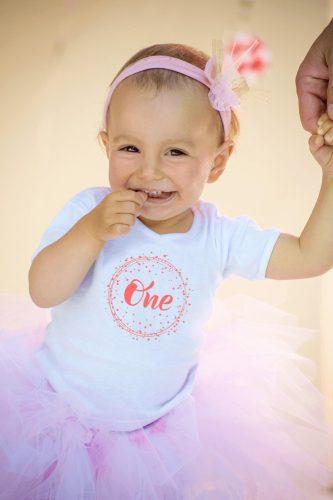 1 éves születésnapi body rózsaszín felirattal