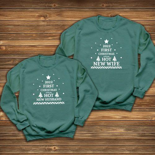 Páros pulóver - ifjú házasok zöld