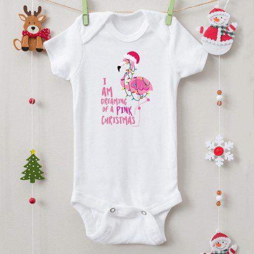 Karácsonyi body pink