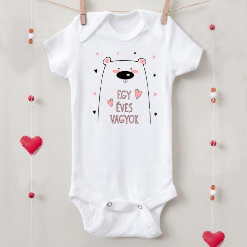 1 éves születésnapi body macis lány