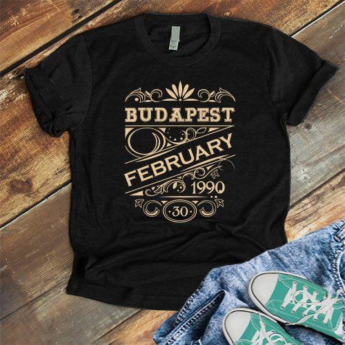 Születésnapi póló - dátummal és a születés helyével!