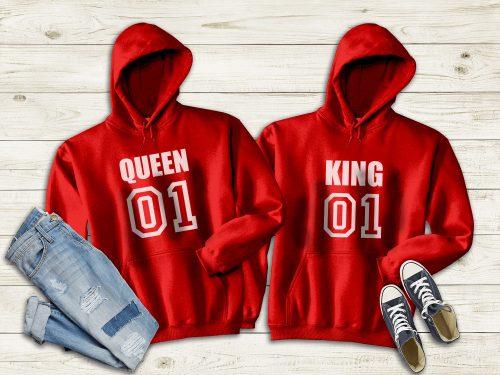 Páros pulóver - King, queen 01