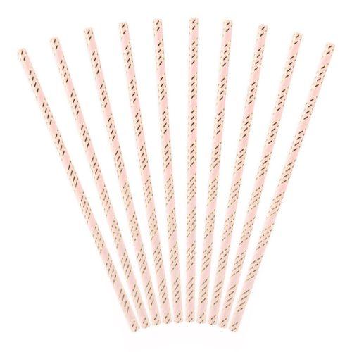 Szívószál papírból, light-pink 19,5cm