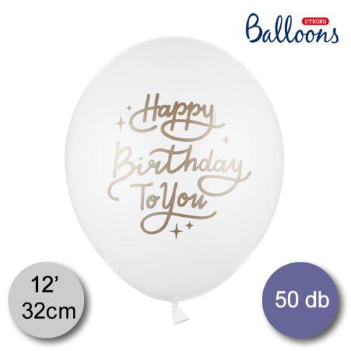 Lufi, nagy csomag, Happy Birthday to you, 50 db/cs