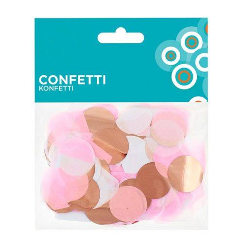Konfetti, papír és fólia rose gold mix, 15gr