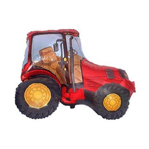 "Fólia lufi, nagyforma, piros traktor, 24"""