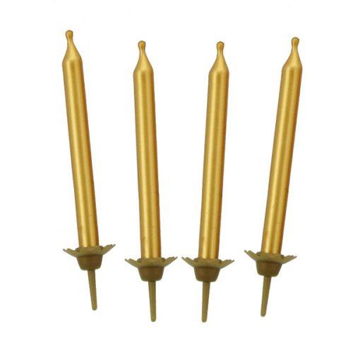 Tortagyertya, arany, 10.5cm, 10 db/cs