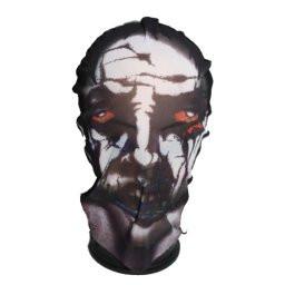 Halloween harisnya álarc, piros szemű zombi