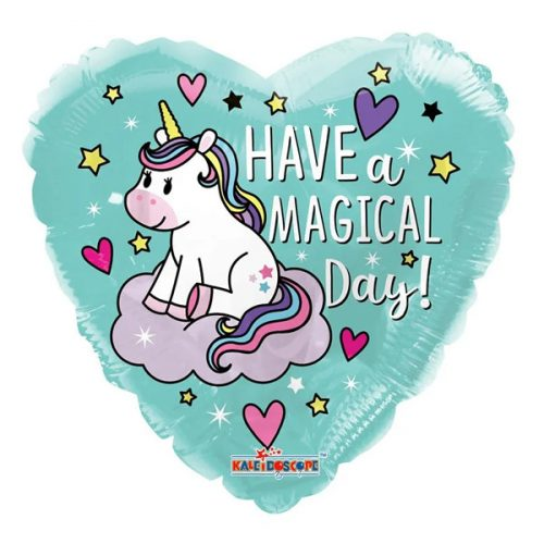 Unikornis, szív, Have a magical Birthday