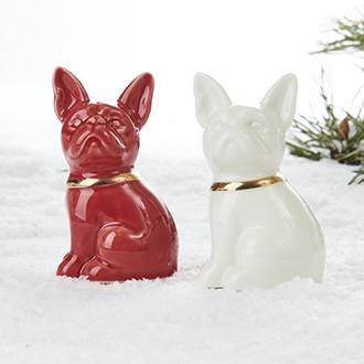 Porcelán kutyák só és bors szóró szett, 10 cm, 2 db/szett