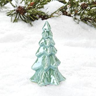 Porcelán karácsonyfa, 9 cm