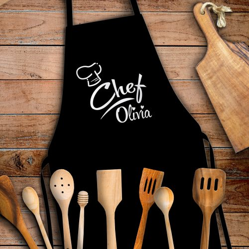 Chef kötény névvel