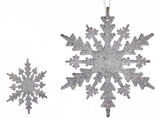 Karácsonyfadísz hópihe ezüst