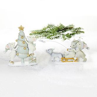 Karácsonyi egérkék, 2 féle, 8-15 cm