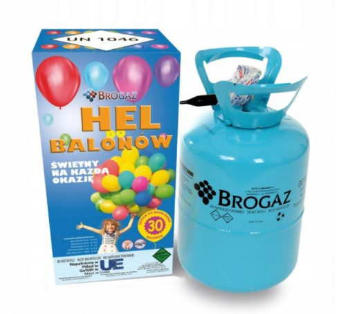 Hélium palack, kék palack, 50 lufihoz, lufi nélkül