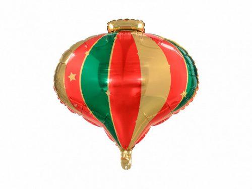 Fólia léggömb, karácsonyfadísz, 51x49 cm
