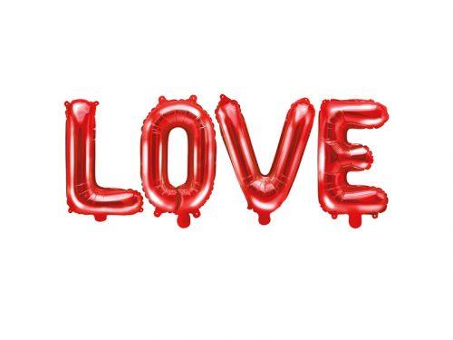 "Fólia léggömb ""LOVE"", 140x35cm, piros"