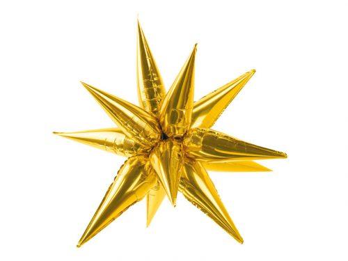 Fólia léggömb, csillag színű csillag, 3D, 95 cm