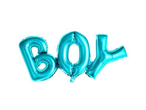 """Fólia léggömb """"BOY"""", 67x29cm, kék"""
