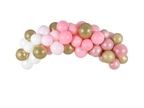 Léggömbfüzér - rózsaszín, 200 cm