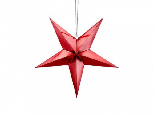 Papírcsillag, 45 cm, piros