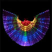 LED szárny pálcával, gyermek jelmez, 110/140