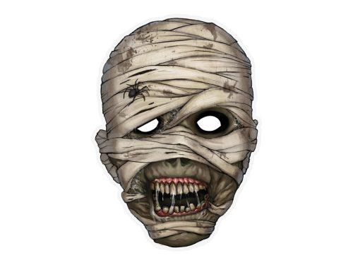 Múmia maszk, 21 x 29 cm