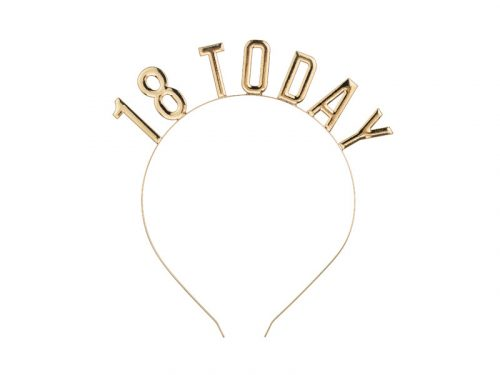 Fejpánt 18 TODAY felirattal, arany színben