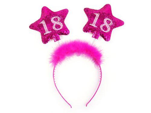 Fejpánt csillagokkal 18, rózsaszín