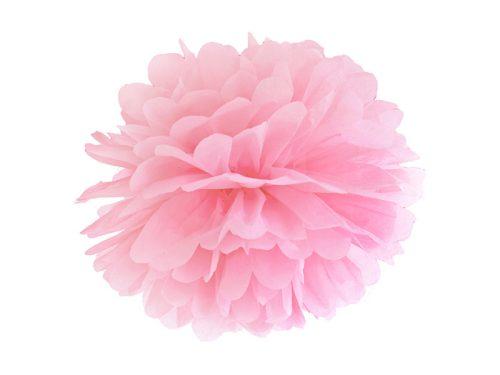 Papír pompom, világos rózsaszín, 35 cm